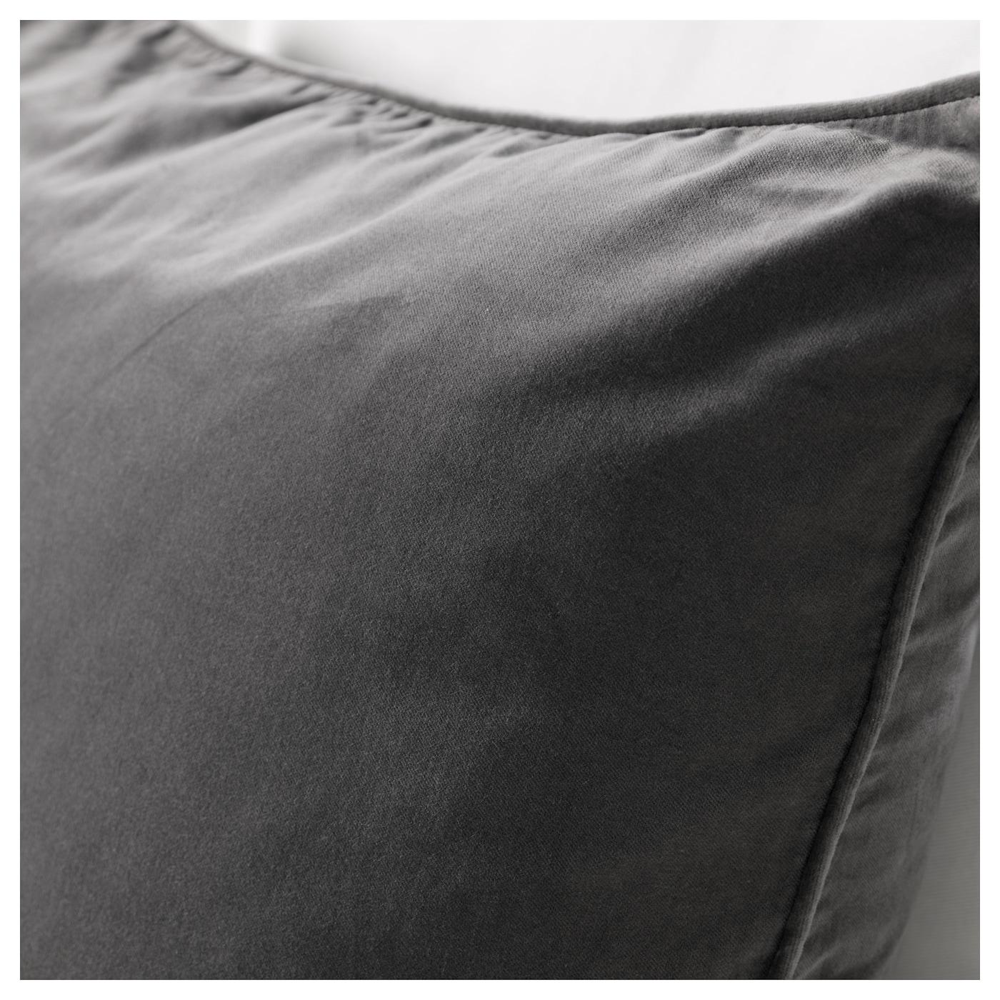 sanela housse de coussin gris 65x65 cm ikea. Black Bedroom Furniture Sets. Home Design Ideas