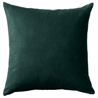 SANELA Housse de coussin, vert foncé, 50x50 cm