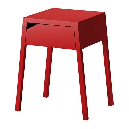 selje table de chevet rouge 46x37 cm ikea. Black Bedroom Furniture Sets. Home Design Ideas