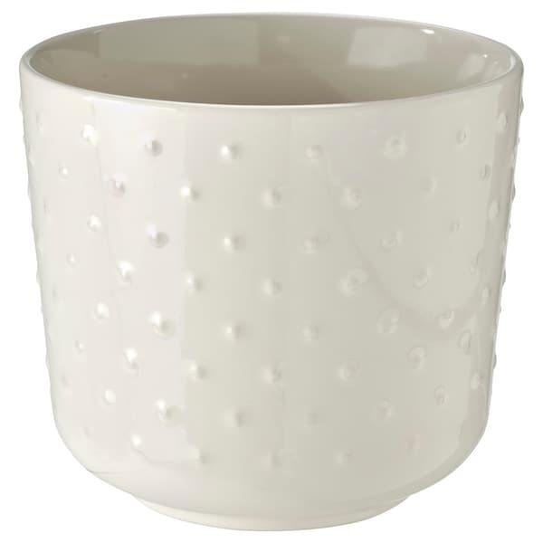 SESAMFRÖN Cache-pot, intérieur/extérieur blanc cassé, 12 cm