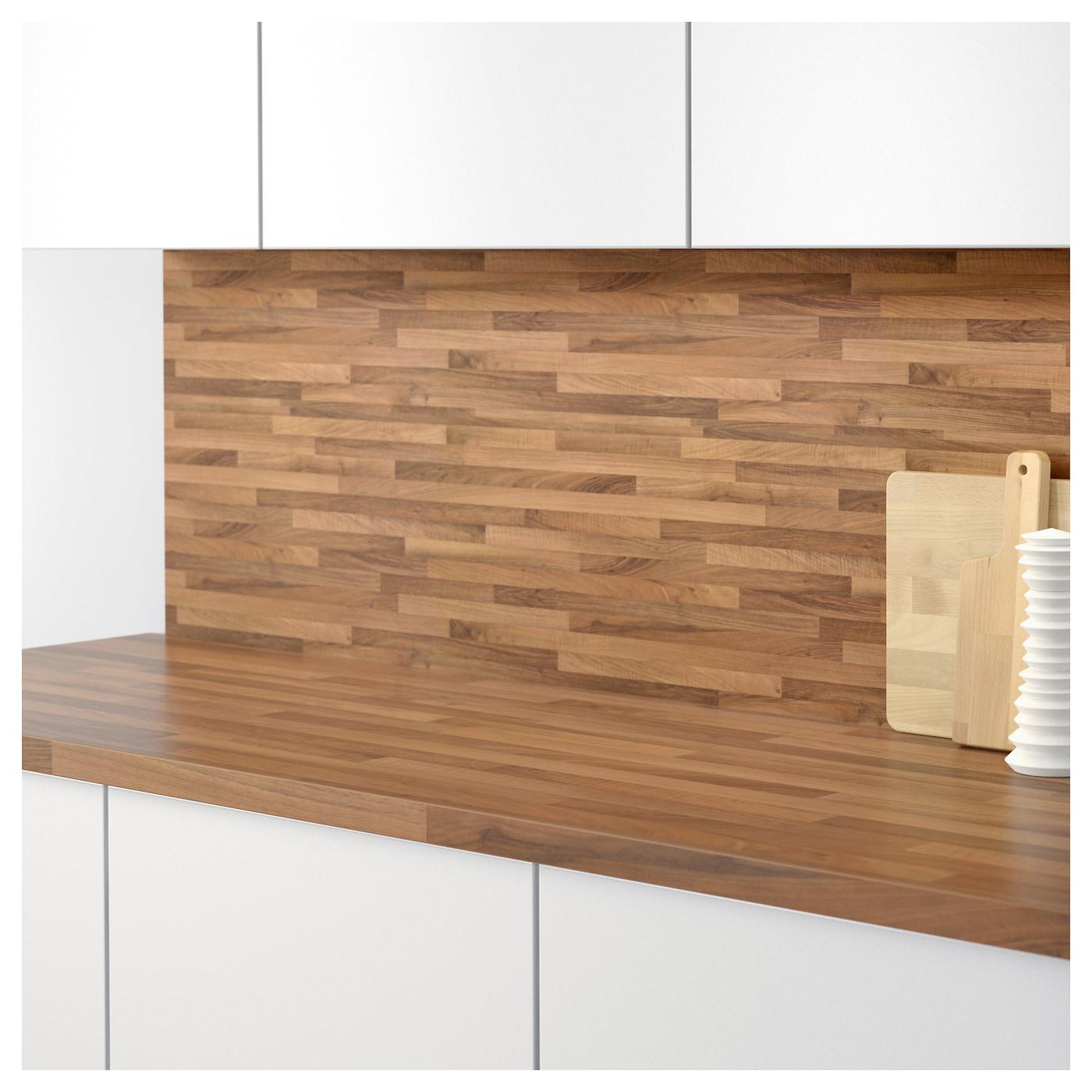 sibbarp rev tement mural sur mesure motif noyer clair stratifi 1 m ikea. Black Bedroom Furniture Sets. Home Design Ideas