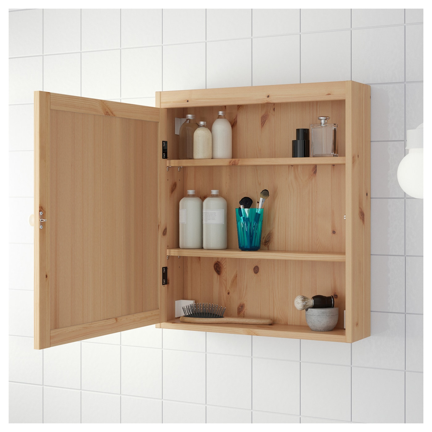 Silver N Meuble Avec Miroir Brun Clair 60x14x68 Cm Ikea # Meuble La Porte