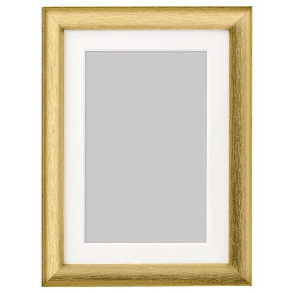 SILVERHÖJDEN Cadre, couleur or, 13x18 cm
