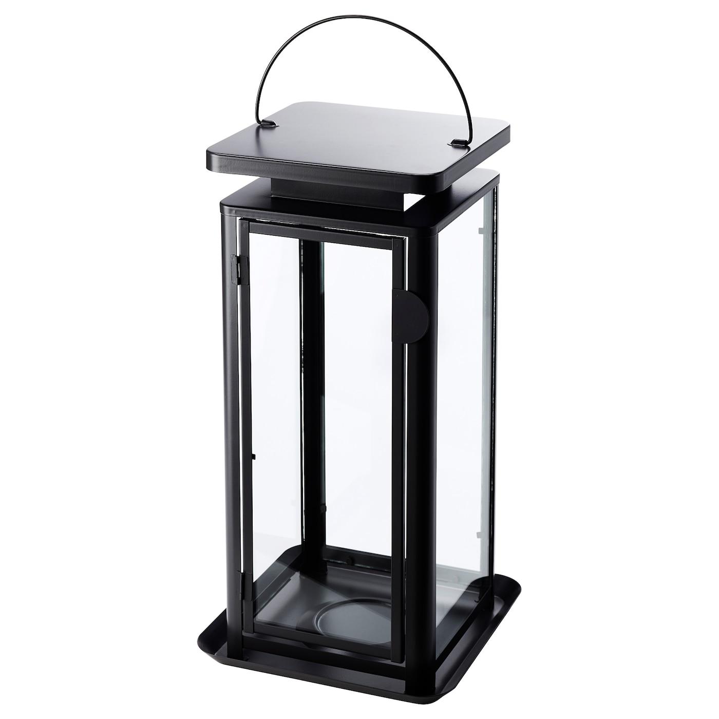 sinnesro lanterne pour bougie bloc int ext gris 45 cm ikea. Black Bedroom Furniture Sets. Home Design Ideas