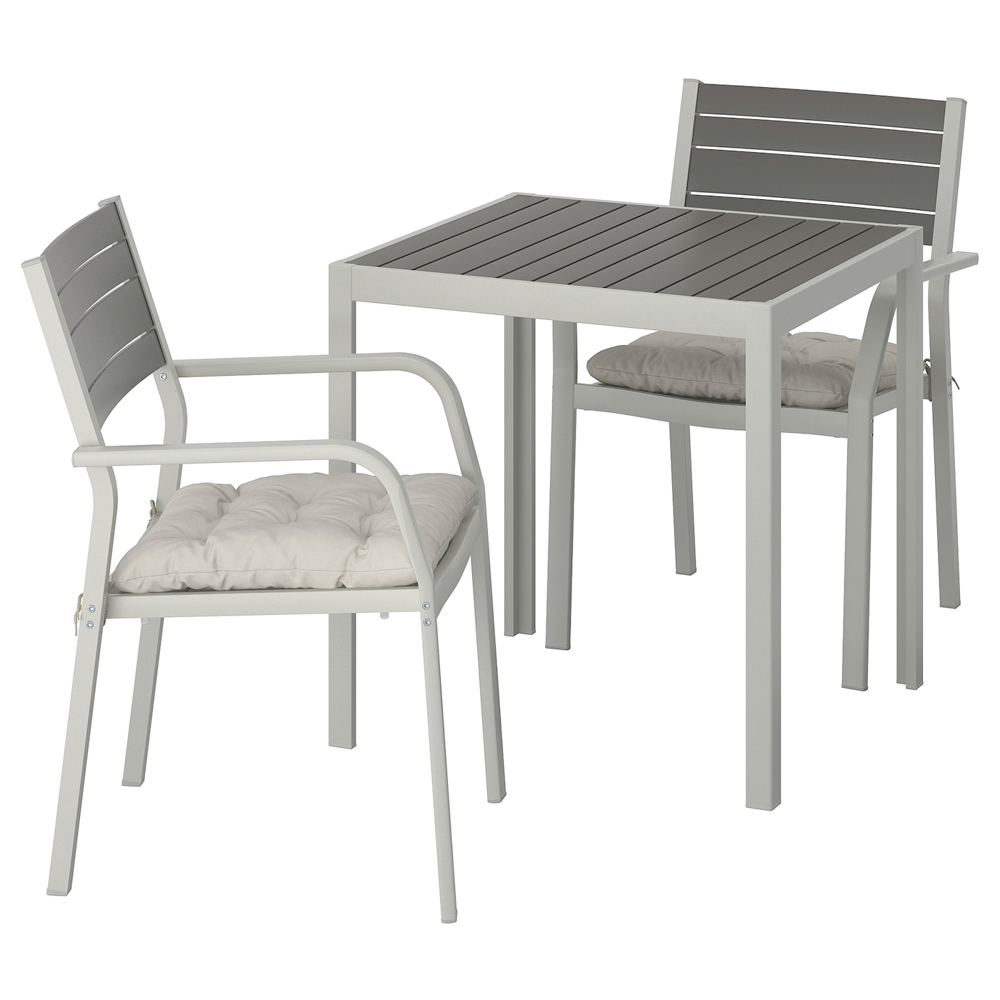 IKEA SJÄLLAND table + 2 chaises accoudoir, ext Chaise empilable permettant un gain de place.