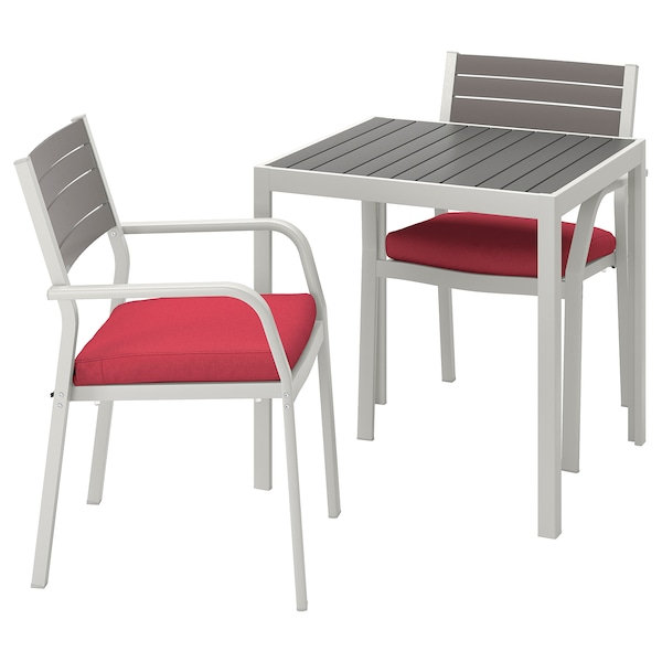 rouge SJÄLLAND chaises accoudoirext gris Table2 foncéFrösönDuvholmen wkZuOTPXi