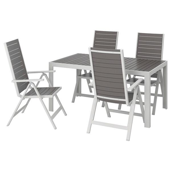 réglextérieur Table doss chais clair gris 4 SJÄLLAND foncégris g7f6Yby
