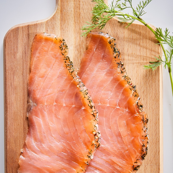 SJÖRAPPORT Saumon gravlax fumé à froid, certifié ASC/surgelé