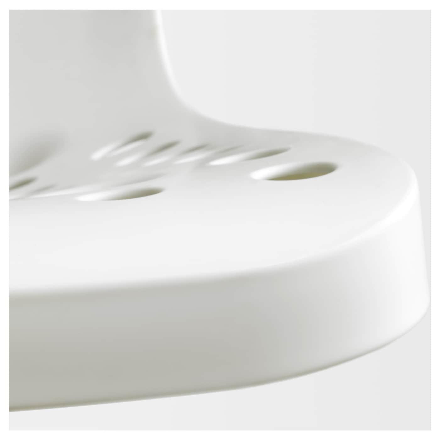 Sk lberg sporren chaise pivotante blanc noir ikea for Chaise noir blanc