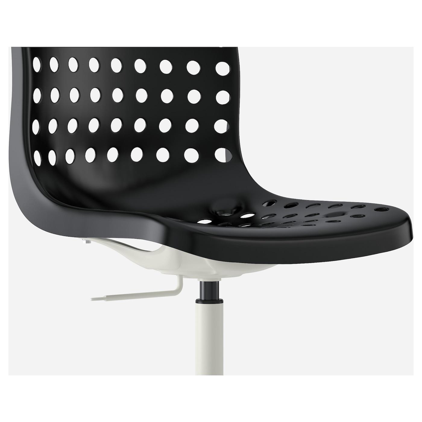 sk lberg sporren chaise pivotante noir blanc ikea. Black Bedroom Furniture Sets. Home Design Ideas