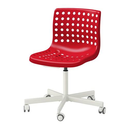 Sk lberg sporren chaise pivotante rouge blanc ikea - Bureau rouge ikea ...