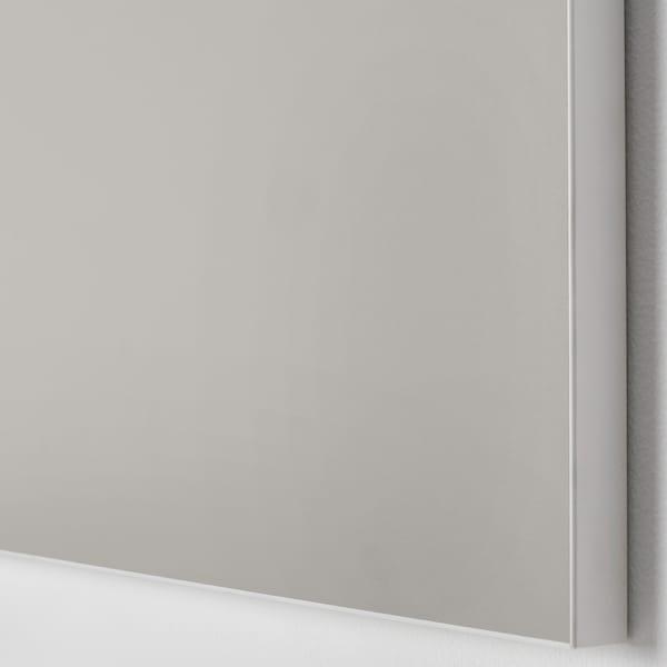 SKATVAL Porte avec charnières, gris clair, 60x120 cm