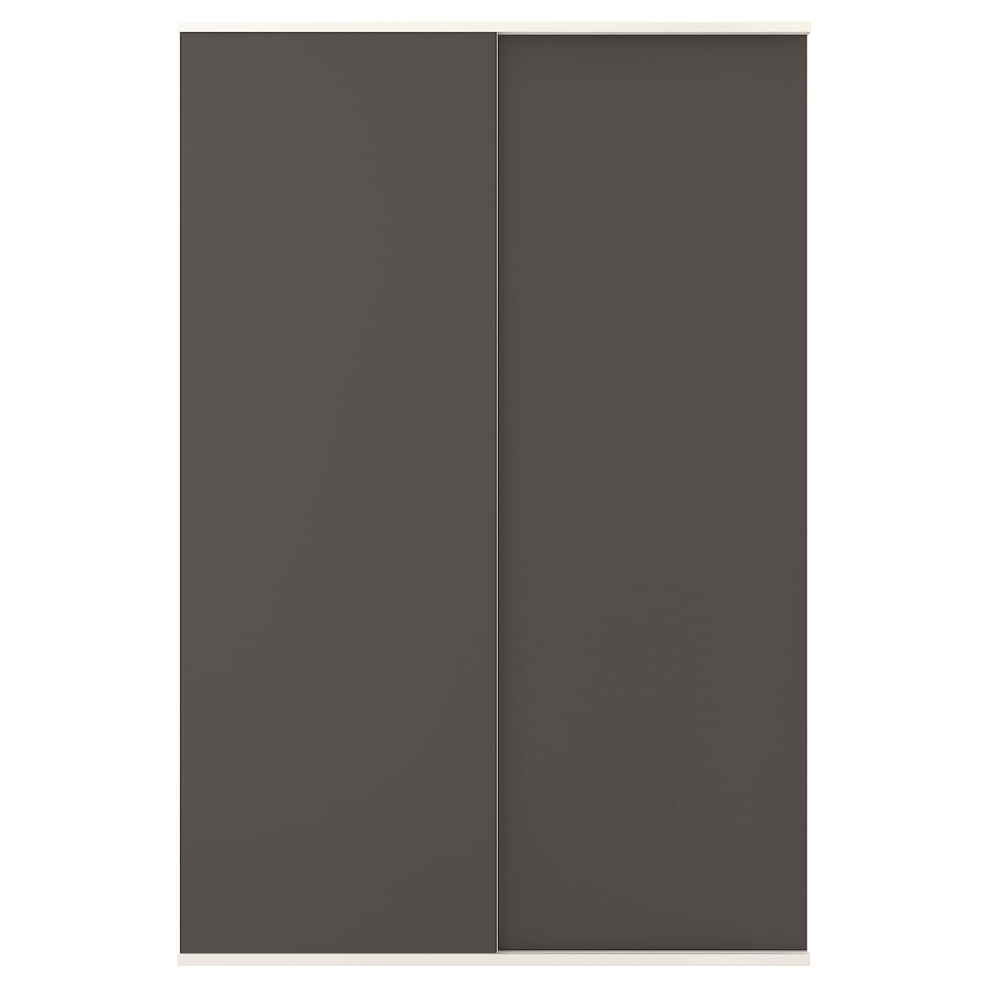 skatval porte coulissante avec rail gris fonc 120 x 180 cm ikea. Black Bedroom Furniture Sets. Home Design Ideas