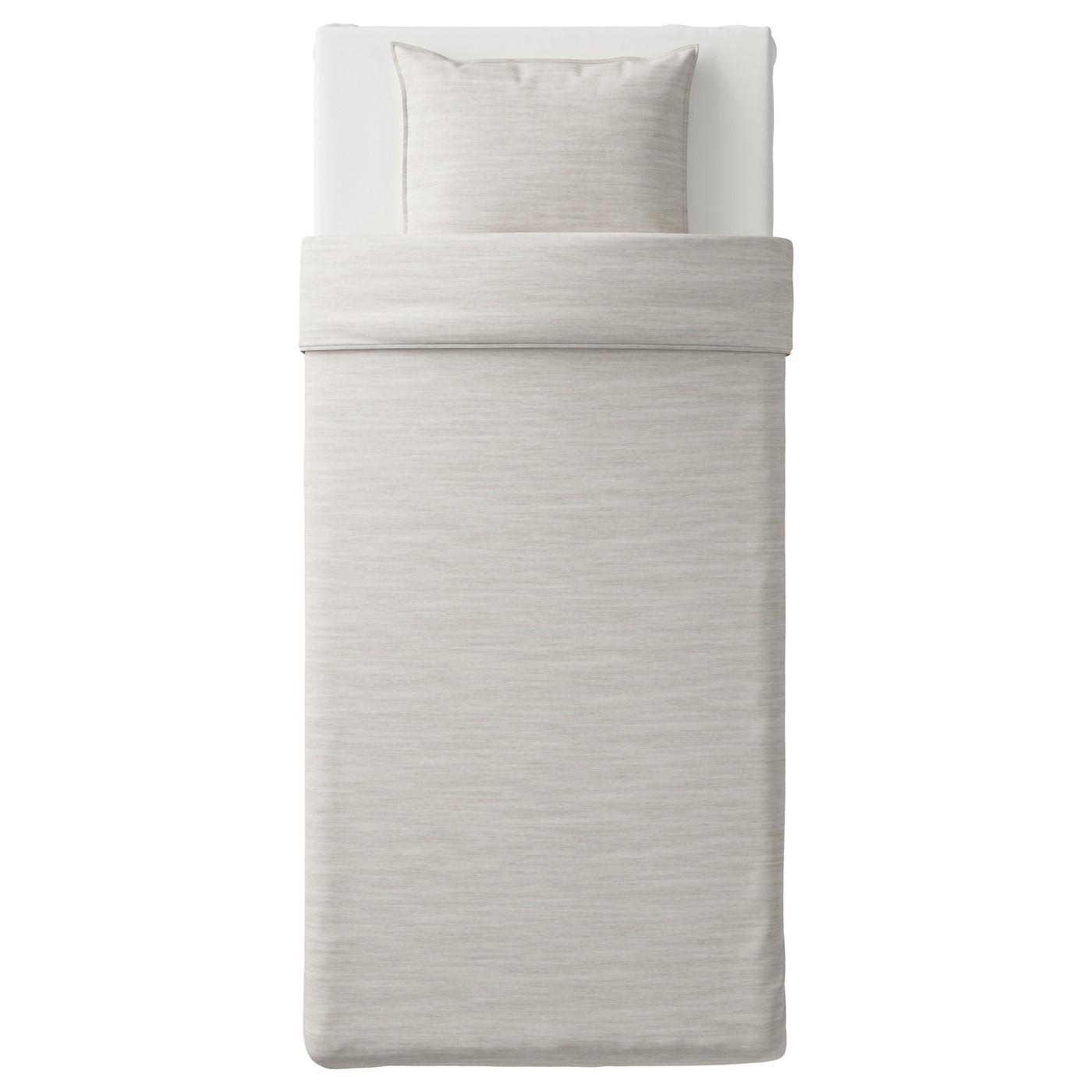 skogsalm housse de couette et taie beige 150 x 200 50 x 60 cm ikea. Black Bedroom Furniture Sets. Home Design Ideas