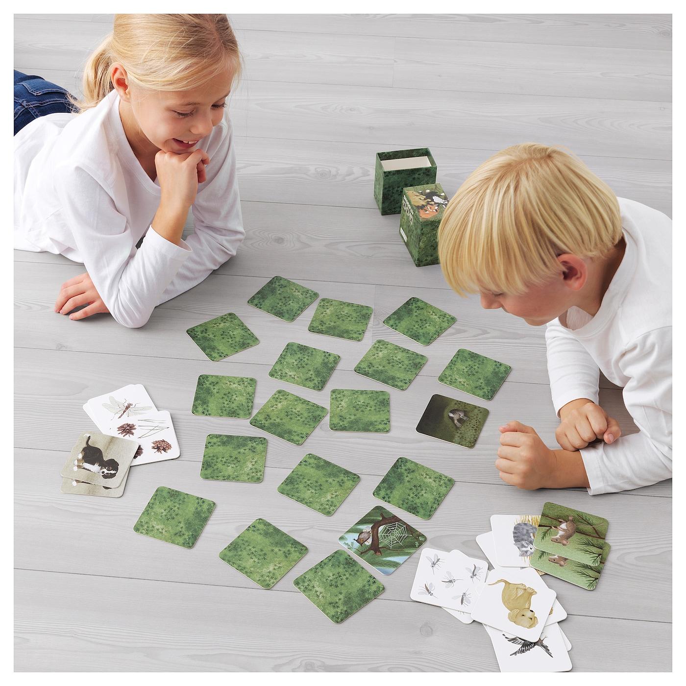 skogsliv jeu de cartes 17 paires ikea. Black Bedroom Furniture Sets. Home Design Ideas