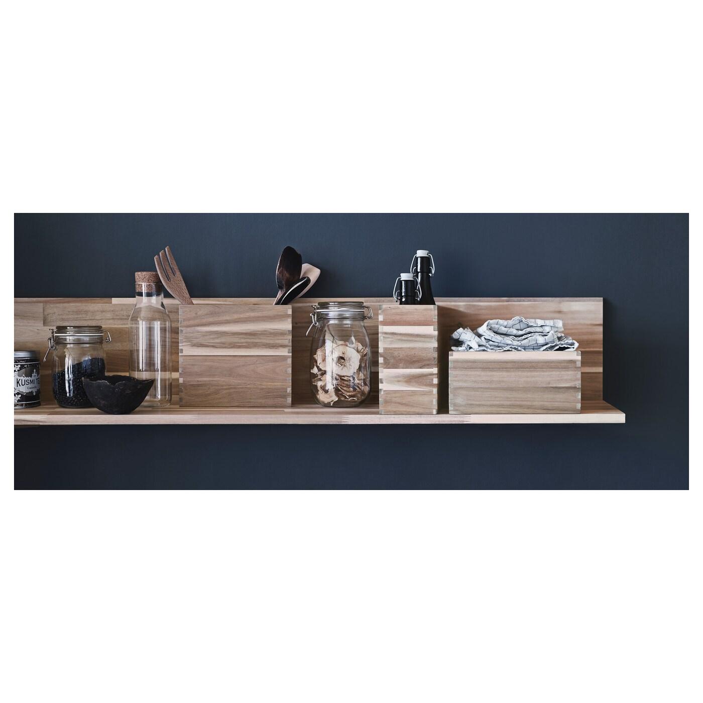 Skogsta Etagere Murale Acacia 120 X 25 Cm Ikea