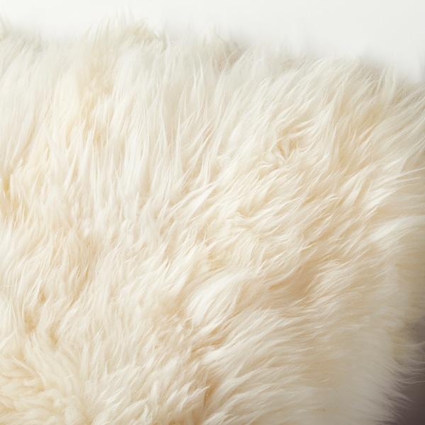 SKOLD Housse de coussin, peau de mouton/blanc, 50x50 cm