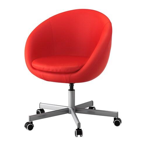 Skruvsta Chaise Pivotante - Vissle Rouge Orange - Ikea