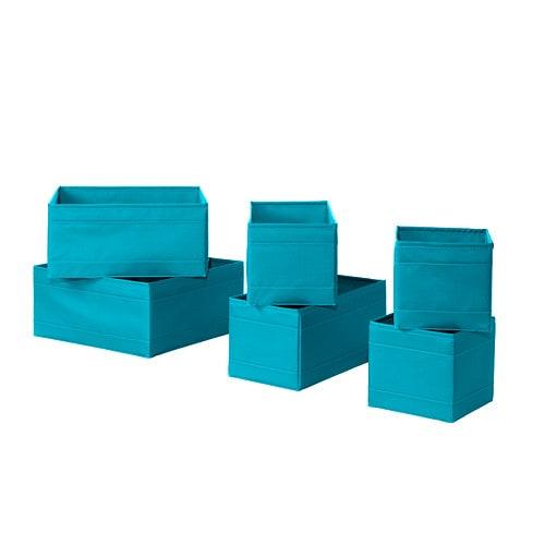 skubb rangement 6 pi ces turquoise ikea. Black Bedroom Furniture Sets. Home Design Ideas