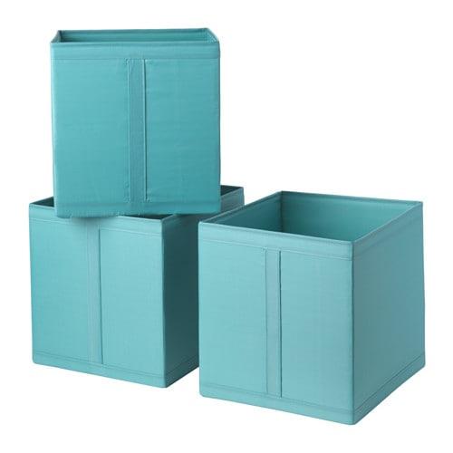 Skubb rangement tissu bleu clair ikea - Panier de rangement ikea ...