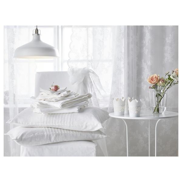 SKURAR Bougeoir, blanc, 11 cm