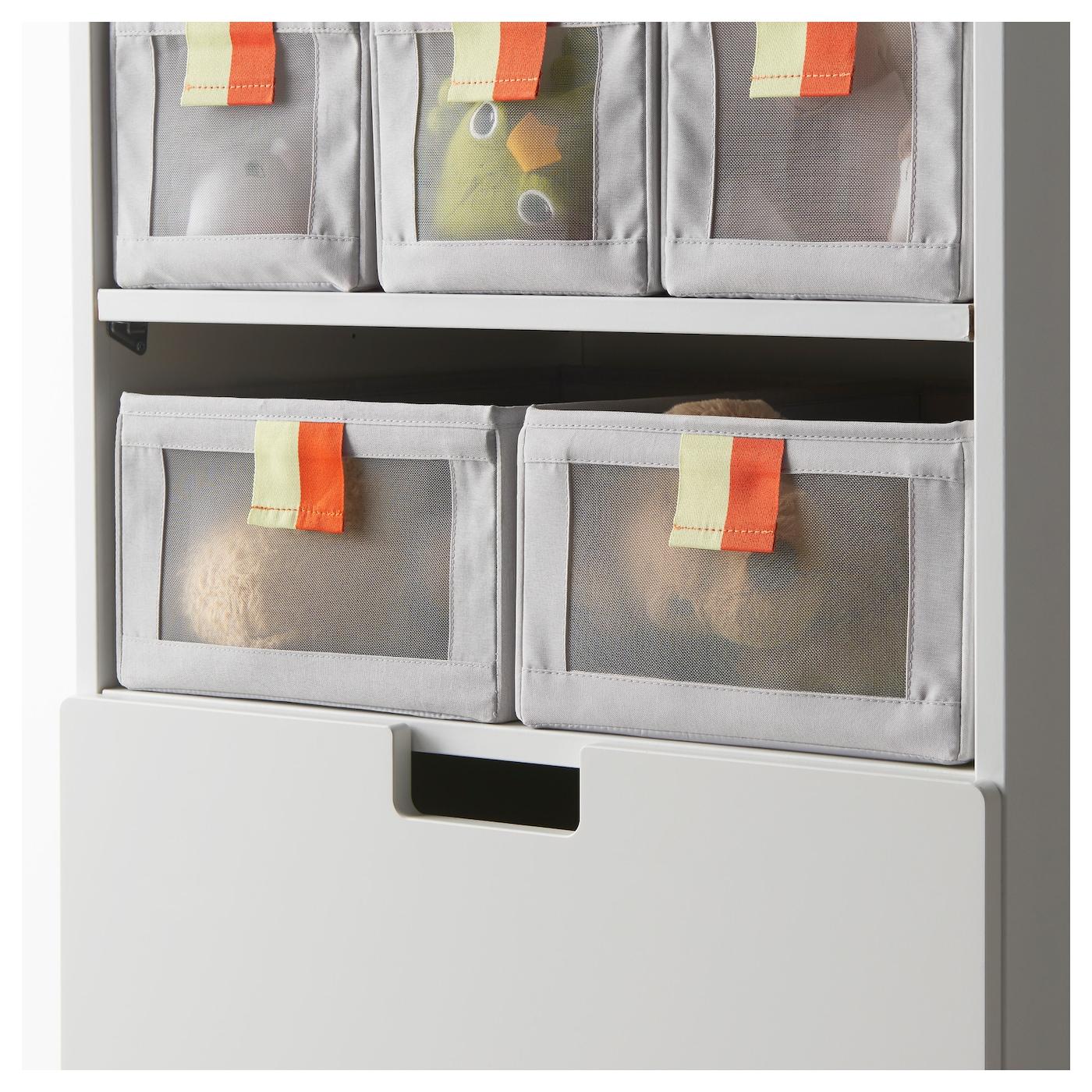 sl kting rangement tissu gris vert 27x42x17 cm ikea. Black Bedroom Furniture Sets. Home Design Ideas
