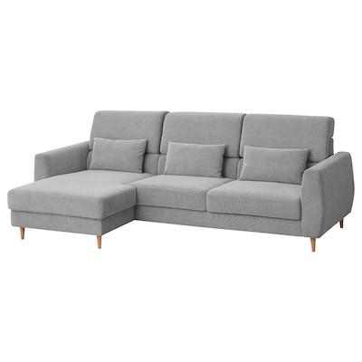 SLATORP canapé 3 places avec méridienne, gauche/Tallmyra blanc/noir 276 cm 157 cm 92 cm 157 cm 240 cm 65 cm 42 cm