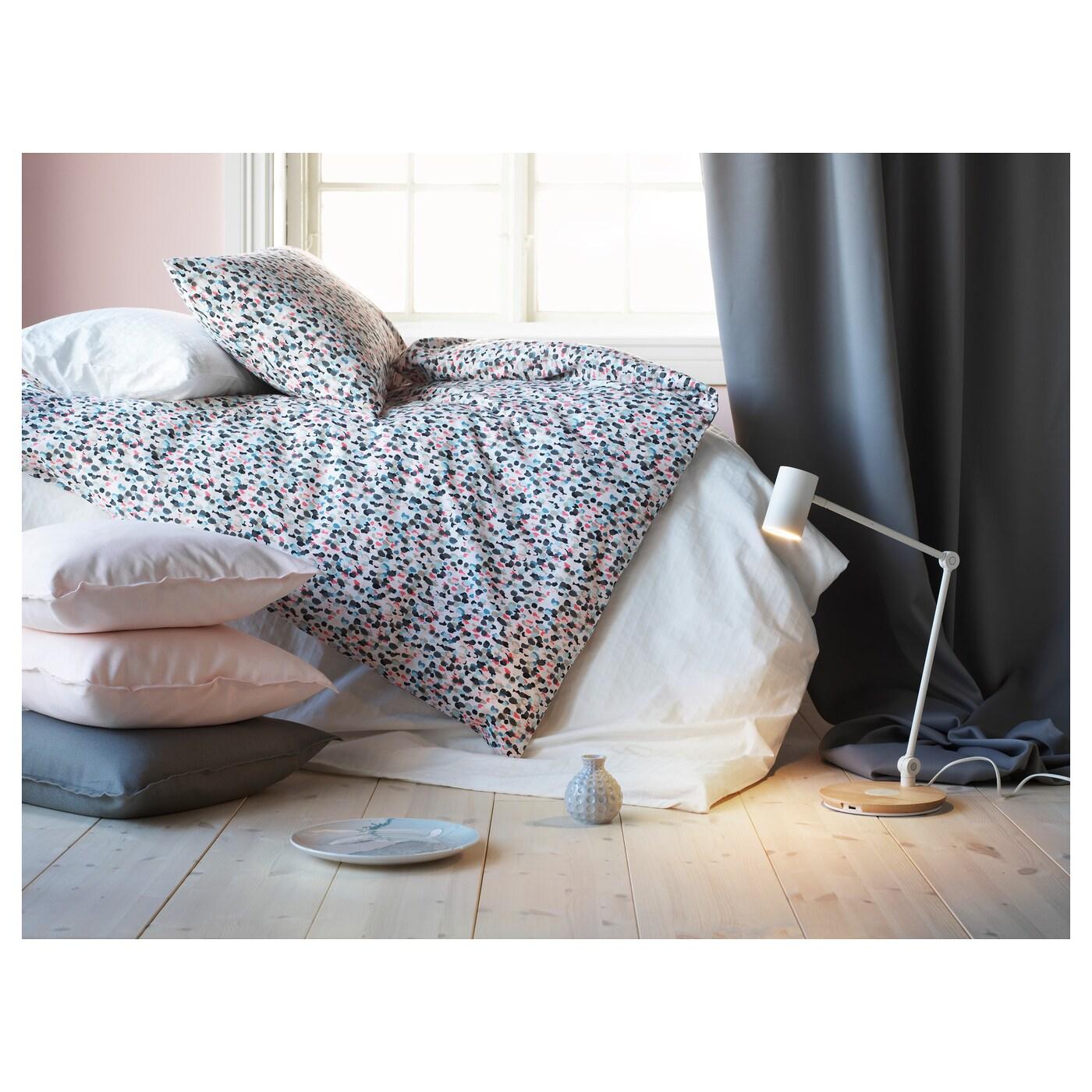 sm starr housse de couette et 2 taies pois multicolore. Black Bedroom Furniture Sets. Home Design Ideas