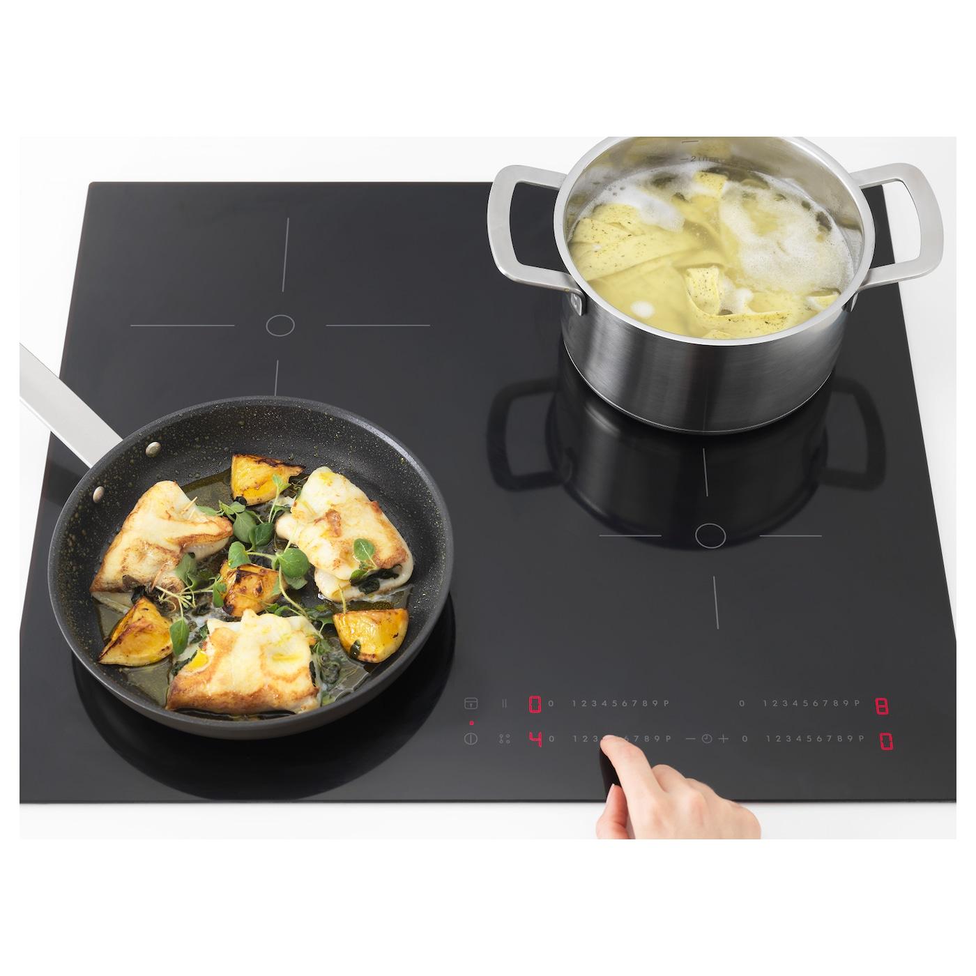 Smaklig table de cuisson induction noir 59 cm ikea - Table de cuisson ikea ...