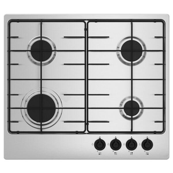 SMÅKOKA Table de cuisson à gaz, acier inoxydable