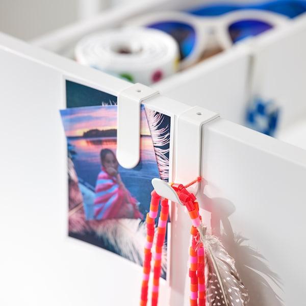 SMÅSTAD Armoire avec élément coulissant, blanc, 80x57x108 cm