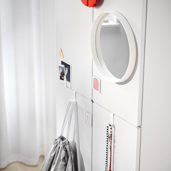 SMÅSTAD Armoire-penderie, blanc blanc/avec 2 tringles à vêtements, 60x42x181 cm
