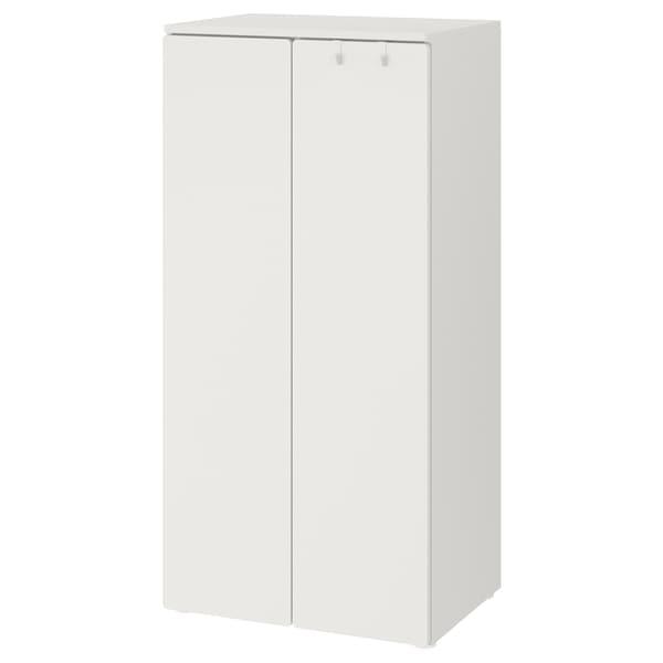 SMÅSTAD Armoire-penderie, blanc/blanc, 60x42x123 cm