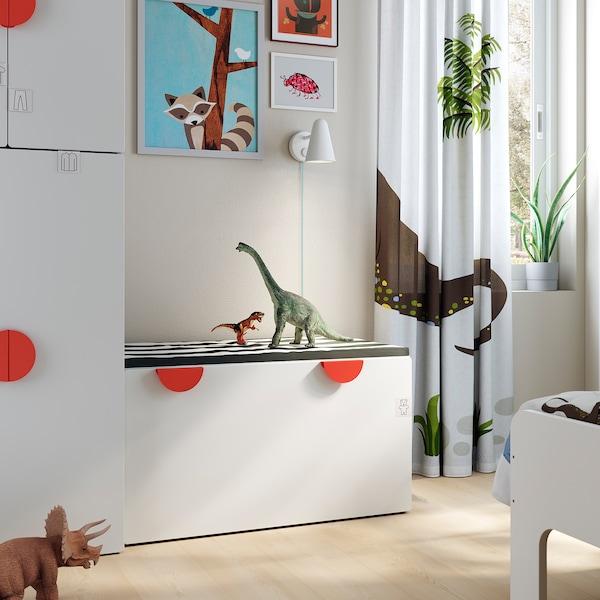 SMÅSTAD Banc avec rangement jouets - blanc/blanc - IKEA