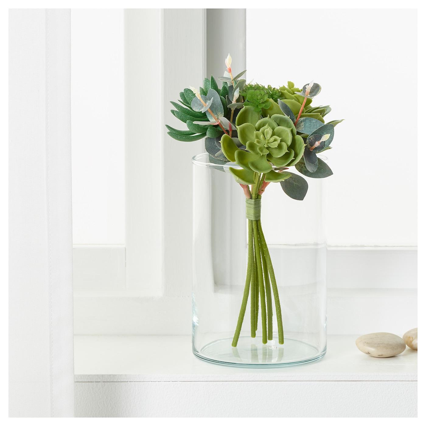 smycka bouquet artificiel succulente vert 24 cm ikea. Black Bedroom Furniture Sets. Home Design Ideas