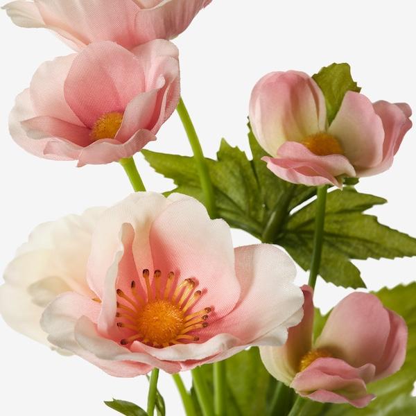 SMYCKA Fleur artificielle, intérieur/extérieur/Anémone rose clair, 59 cm