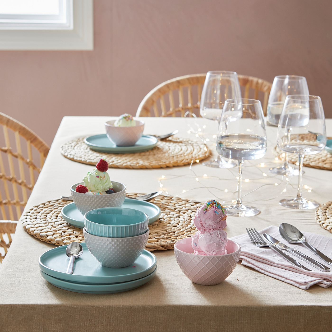 SOARÉ Set de table, jacinthe d'eau, 37 cm
