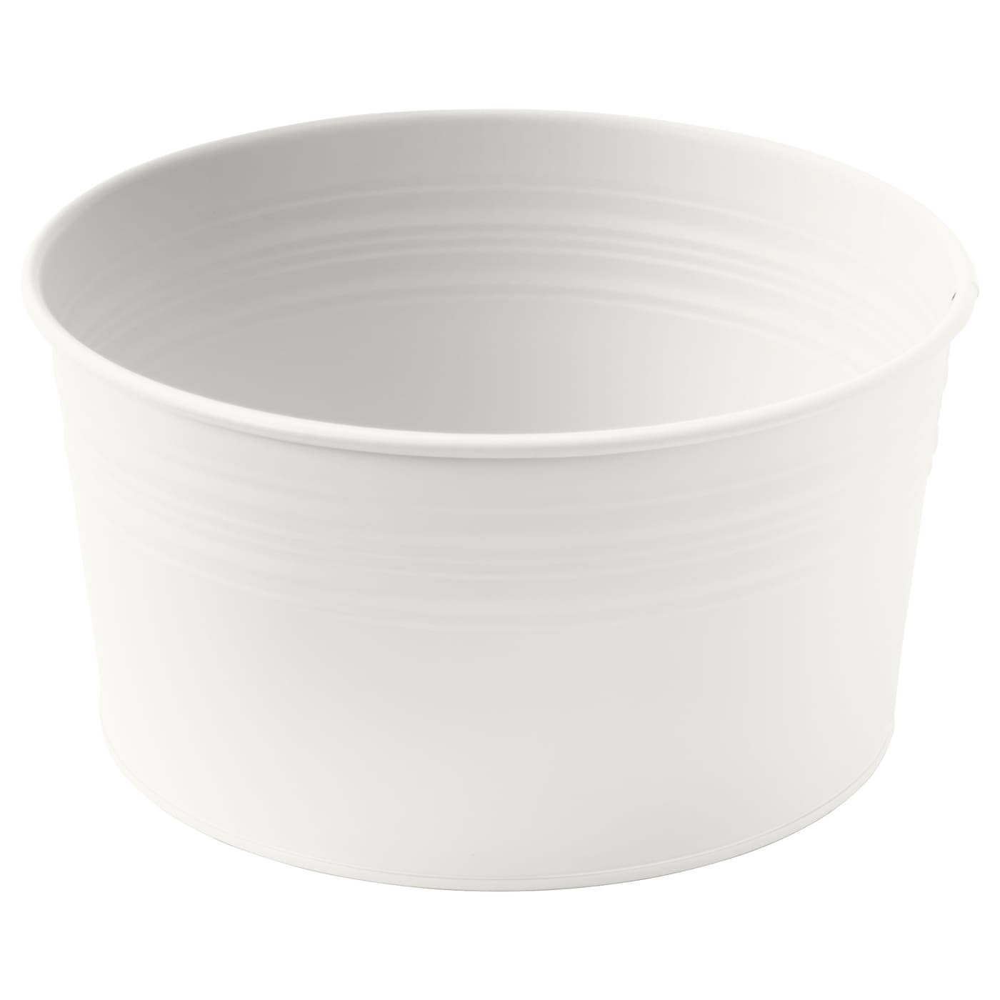 Socker cache pot int rieur ext rieur blanc ikea for Cache pot exterieur