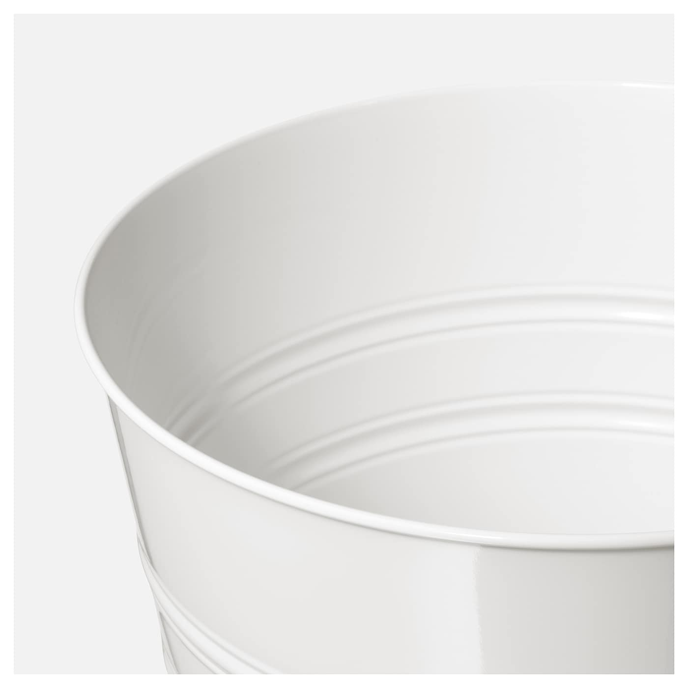 Socker cache pot int rieur ext rieur blanc 24 cm ikea for Cache pot interieur