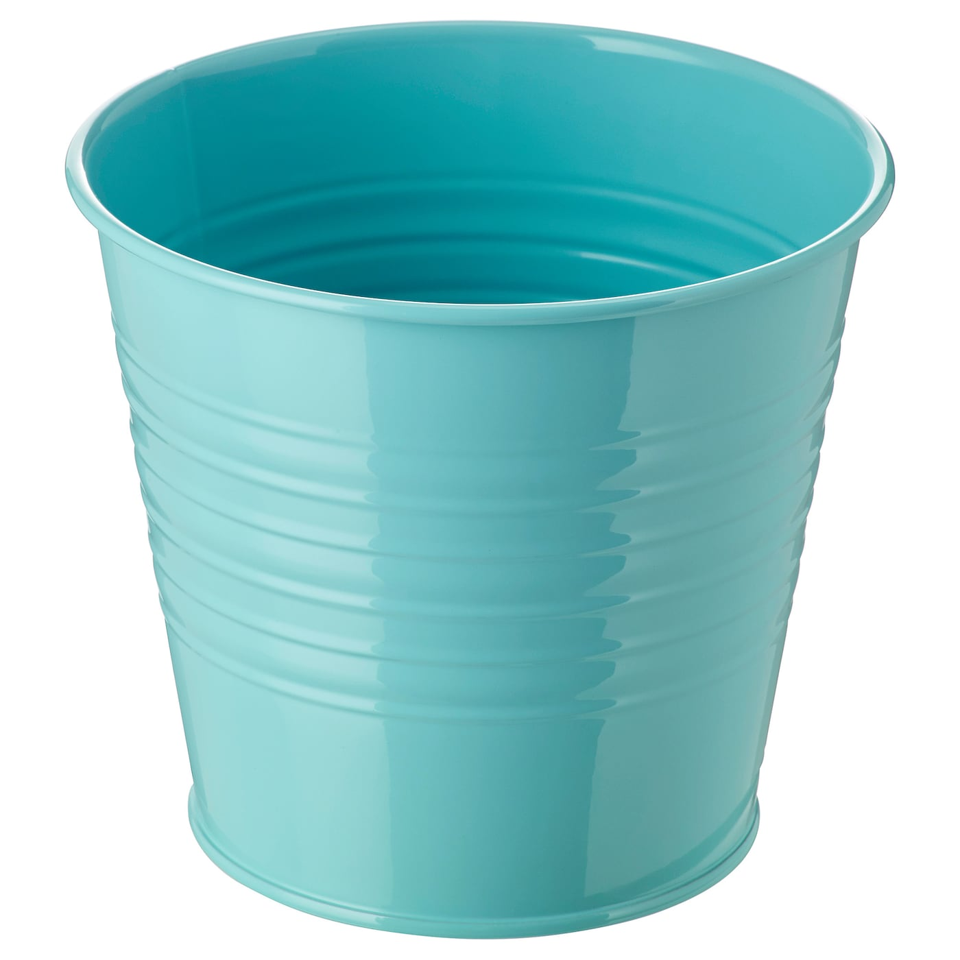 Socker cache pot int rieur ext rieur turquoise 12 cm ikea for Cache pot exterieur
