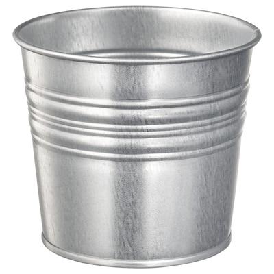SOCKER Cache-pot, intérieur/extérieur/acier zingué, 10.5 cm