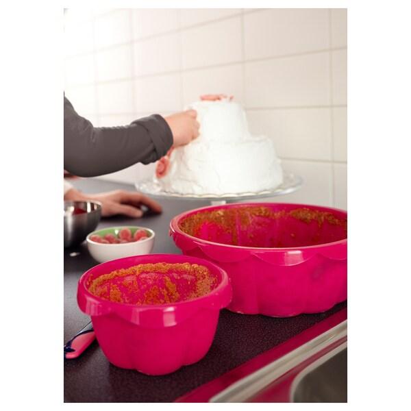 SOCKERKAKA Moule à gâteau, 2 pces, rose