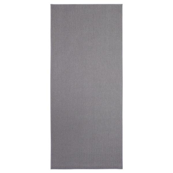 SÖLLINGE Tapis tissé à plat, gris, 65x150 cm