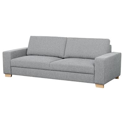 SÖRVALLEN canapé 3 places Lejde gris/noir 232 cm 102 cm 88 cm 58 cm 78 cm 45 cm