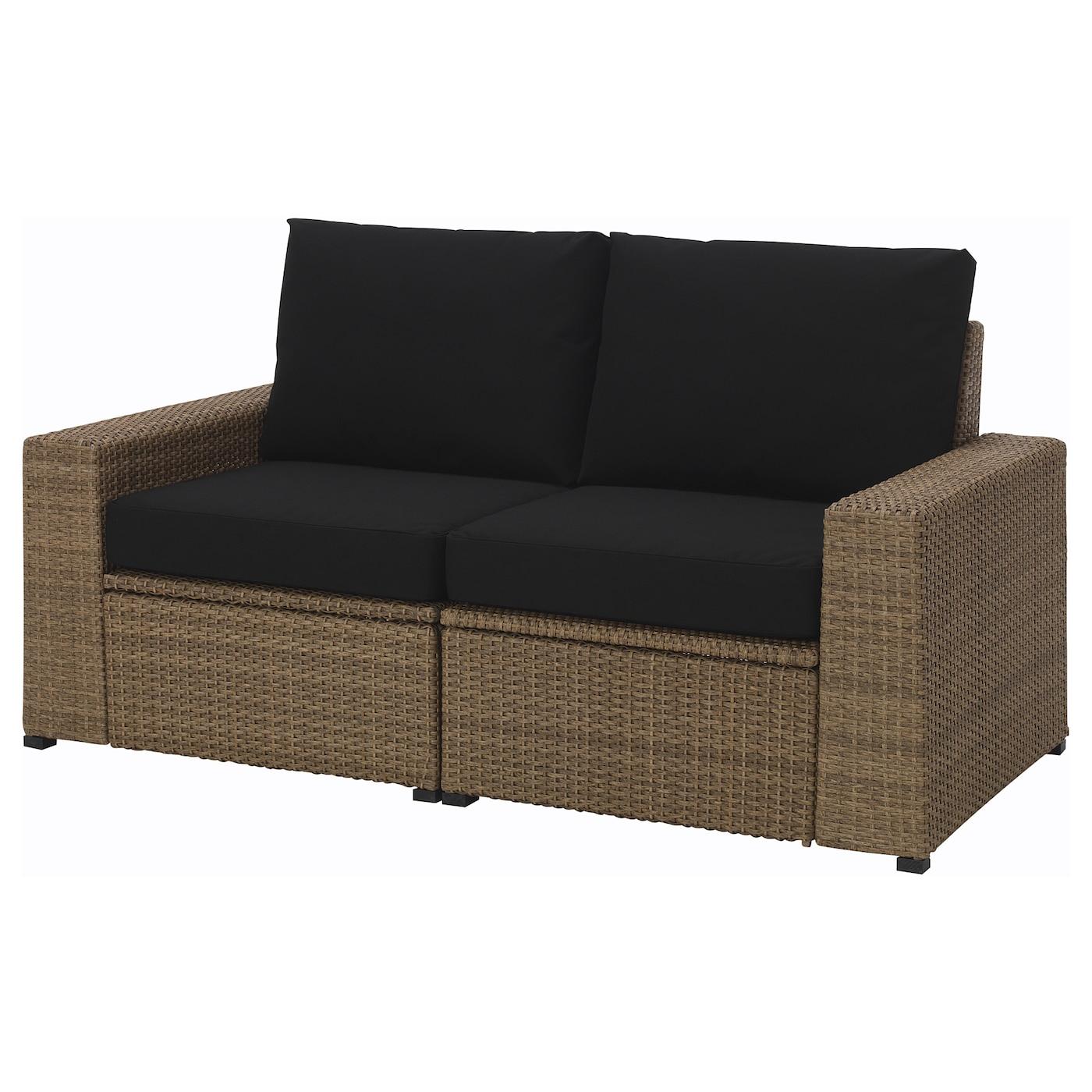 soller n canap 2 places ext rieur brun kungs noir 161 x 82 x 87 cm ikea. Black Bedroom Furniture Sets. Home Design Ideas