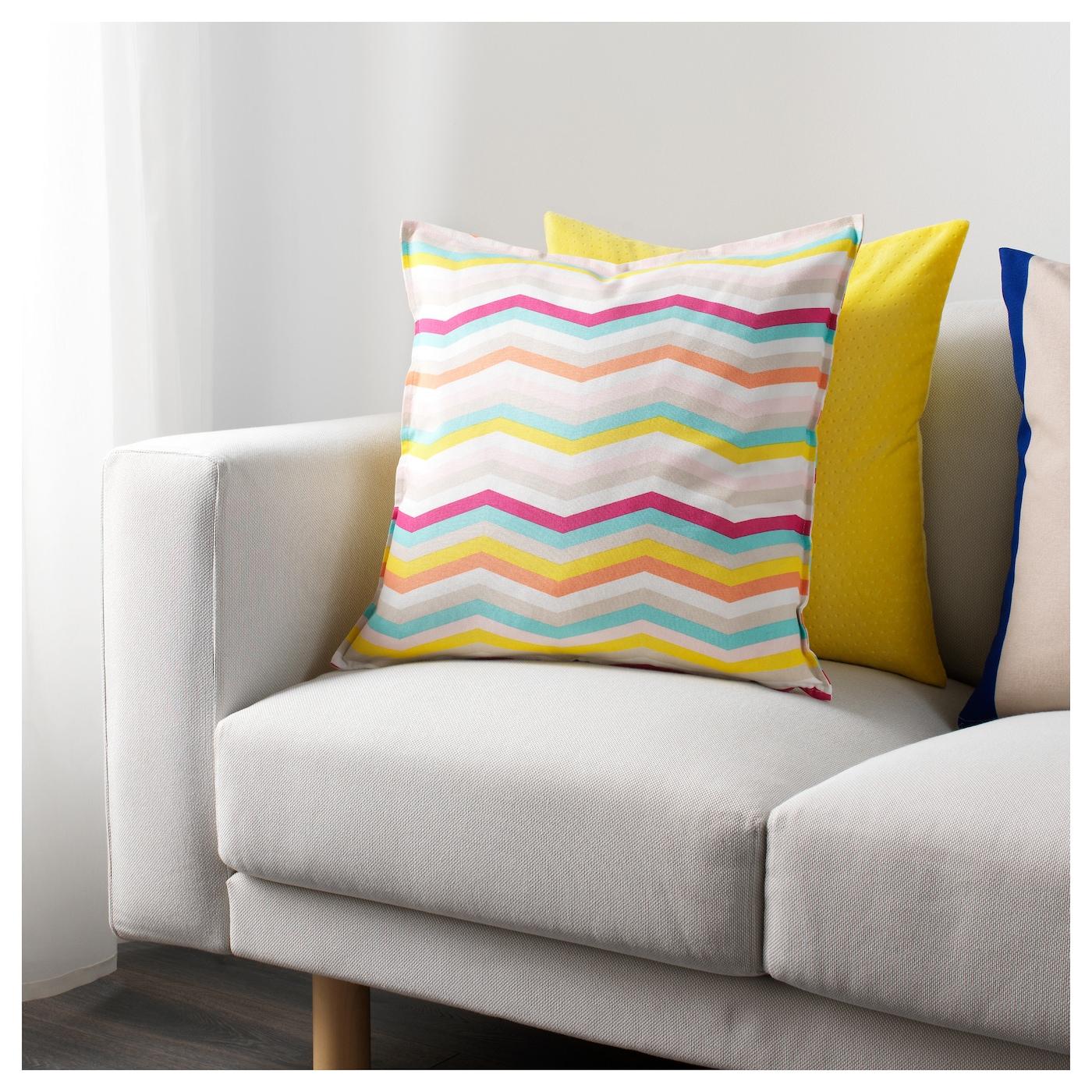 Sommar 2018 housse de coussin motif en zigzag multicolore for Housse de coussin 50x50