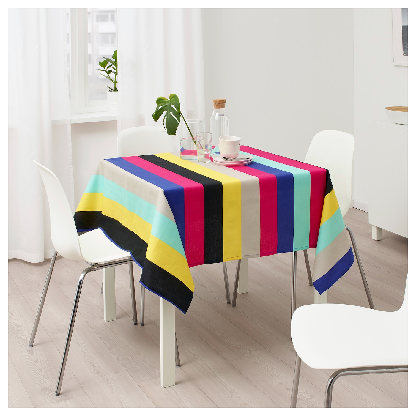 sommar 2018 nappe multicolore ray 145x145 cm ikea. Black Bedroom Furniture Sets. Home Design Ideas