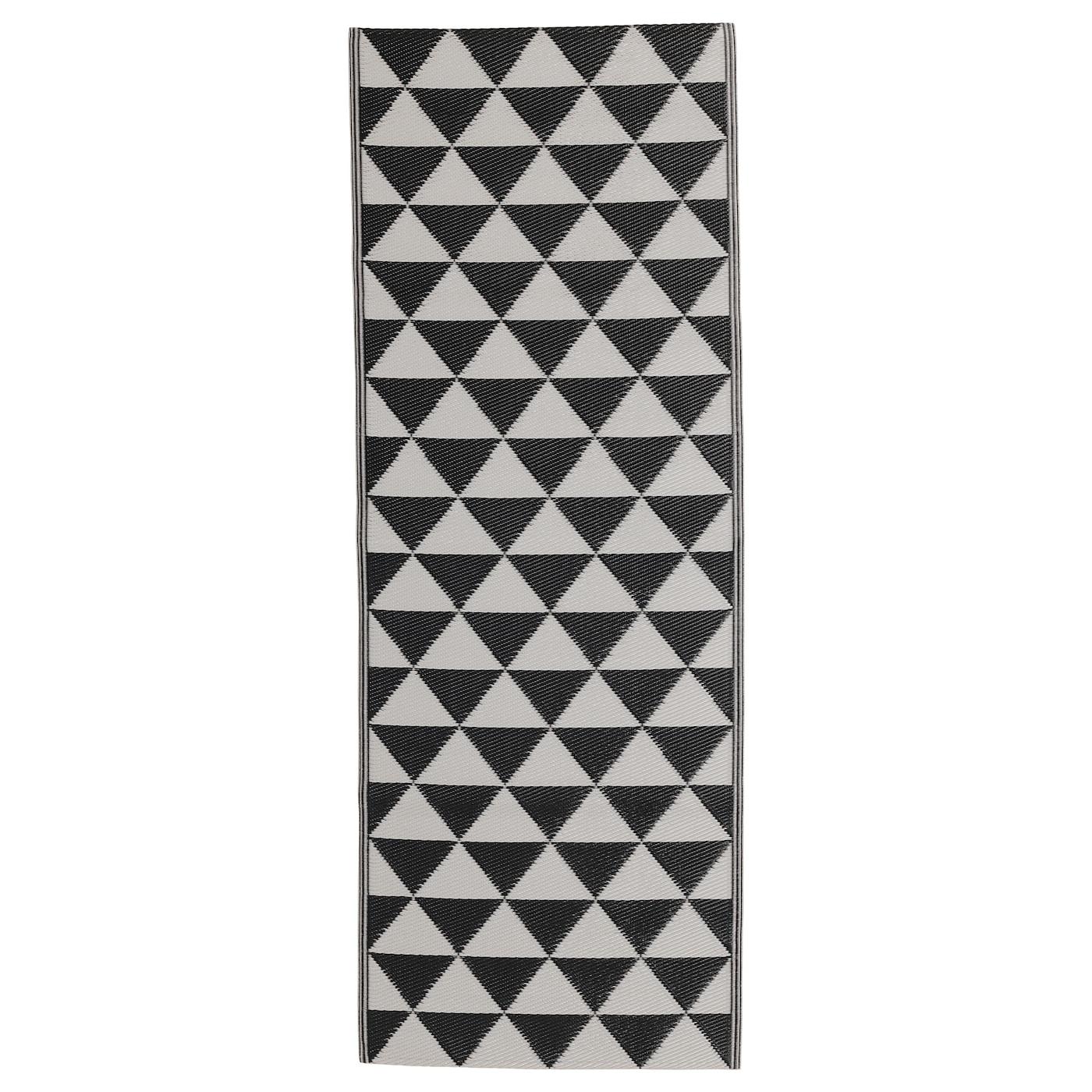 sommar 2018 tapis tiss plat int ext rieur noir gris 75x200 cm ikea. Black Bedroom Furniture Sets. Home Design Ideas