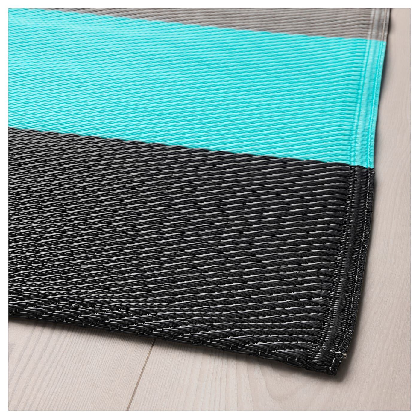 sommar 2018 tapis tiss plat int ext rieur ray turquoise 180x240 cm ikea. Black Bedroom Furniture Sets. Home Design Ideas
