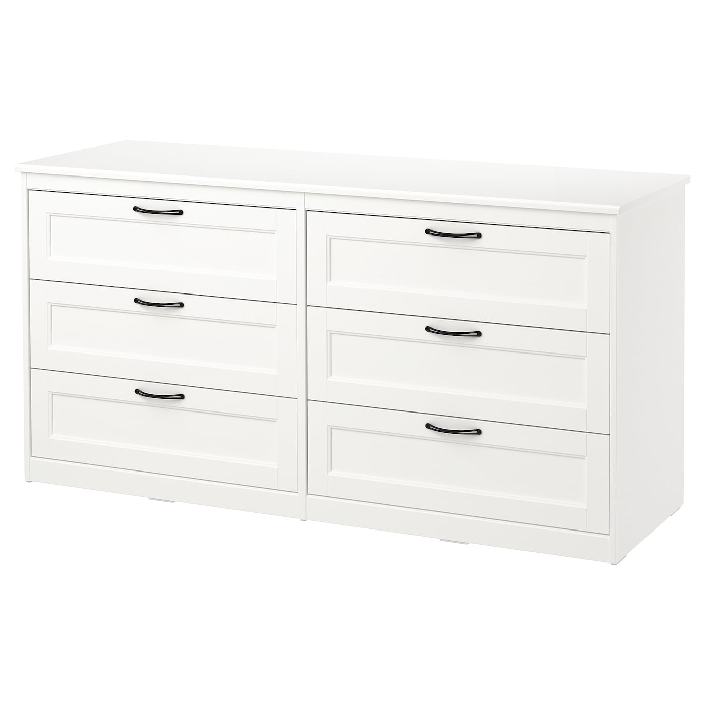 songesand commode 6 tiroirs blanc 161x81 cm ikea. Black Bedroom Furniture Sets. Home Design Ideas